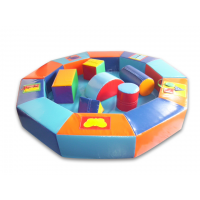 Сухой бассейн-манеж цветной с конструктором